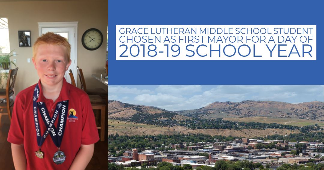 Grace Lutheran Middle School Eighth Grader Kaden Horton will be the kicking off the City of Pocatell