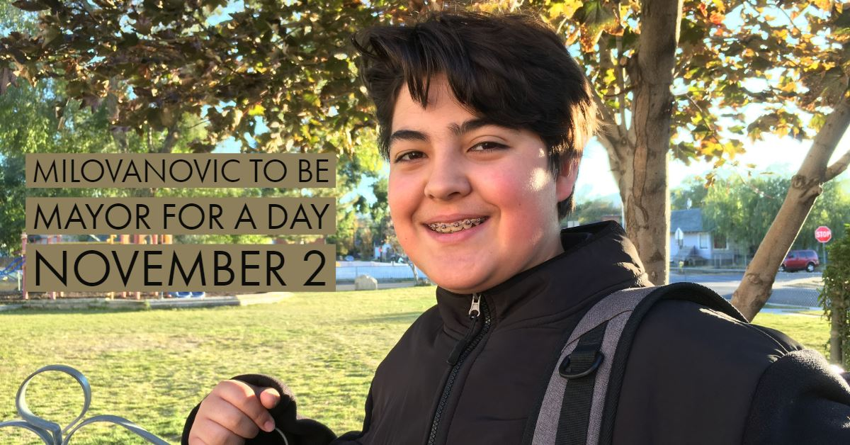 A Holy Spirit Catholic School student will be Mayor for a Day November 2.
