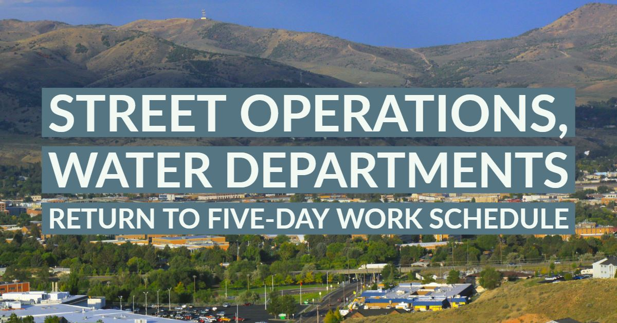 Crews with the City of Pocatello's Street Operations and Water Departments will return to their five
