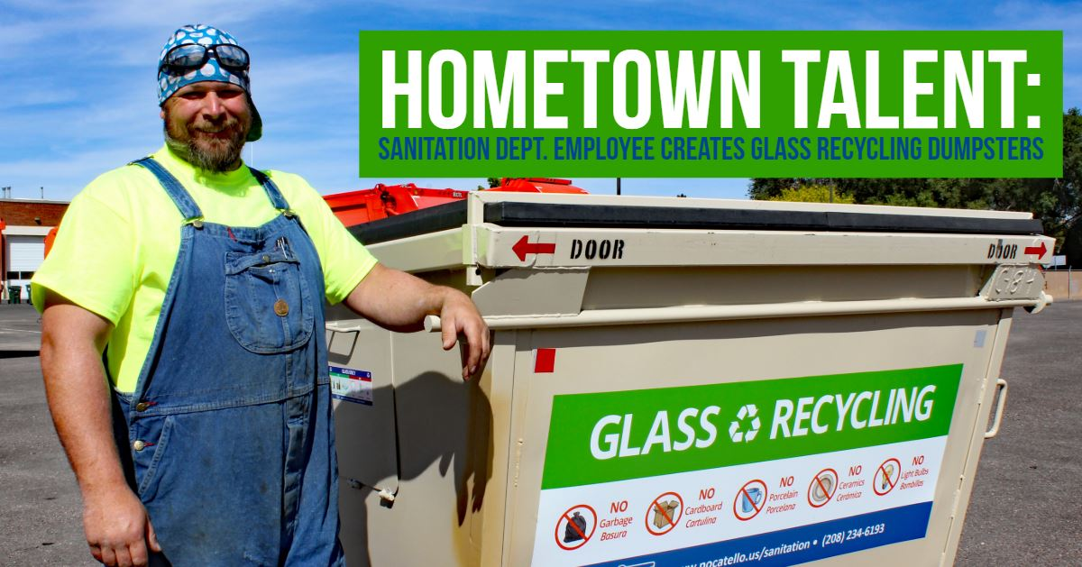 At any one of the City of Pocatello's 10 glass-recycling locations, you'll see the handiwork of Jon
