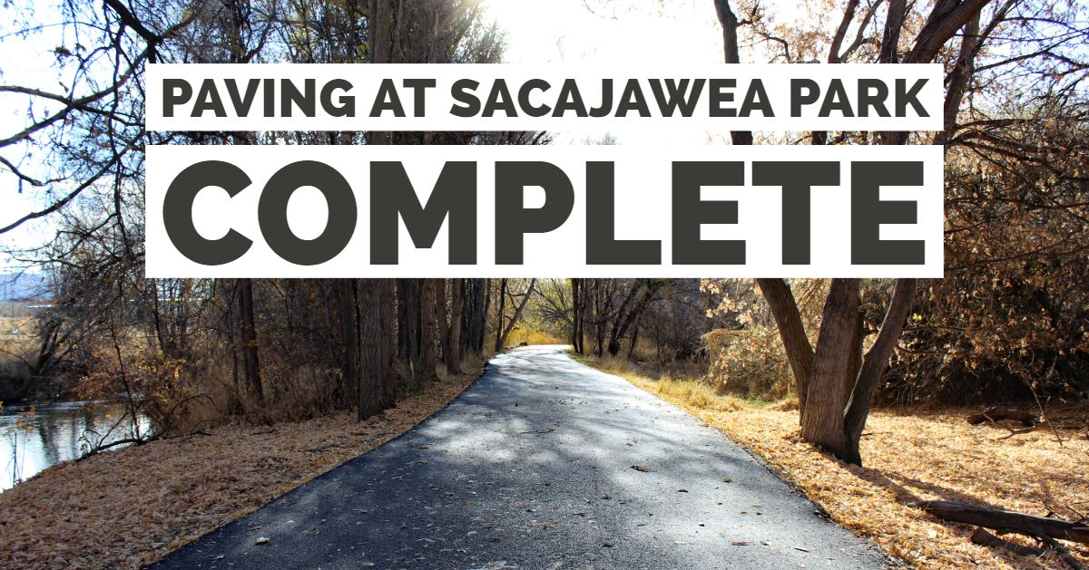 If you like to visit Sacajawea Park, your walk, run or ride is going to be smoother.