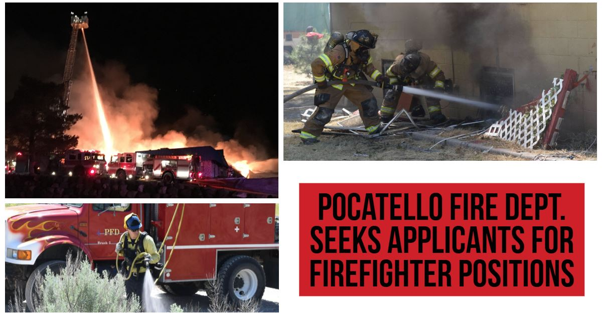 The City of Pocatello is currently accepting applications for Probationary Firefighters.