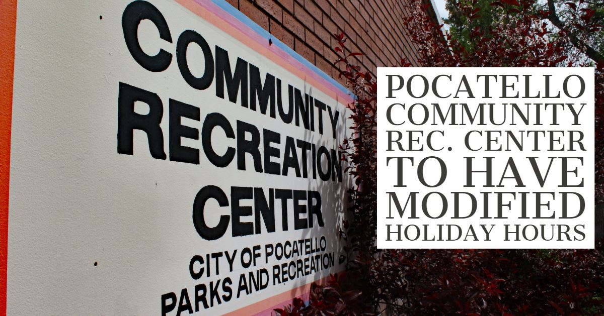 Pocatello Community Recreation Center entrance sign