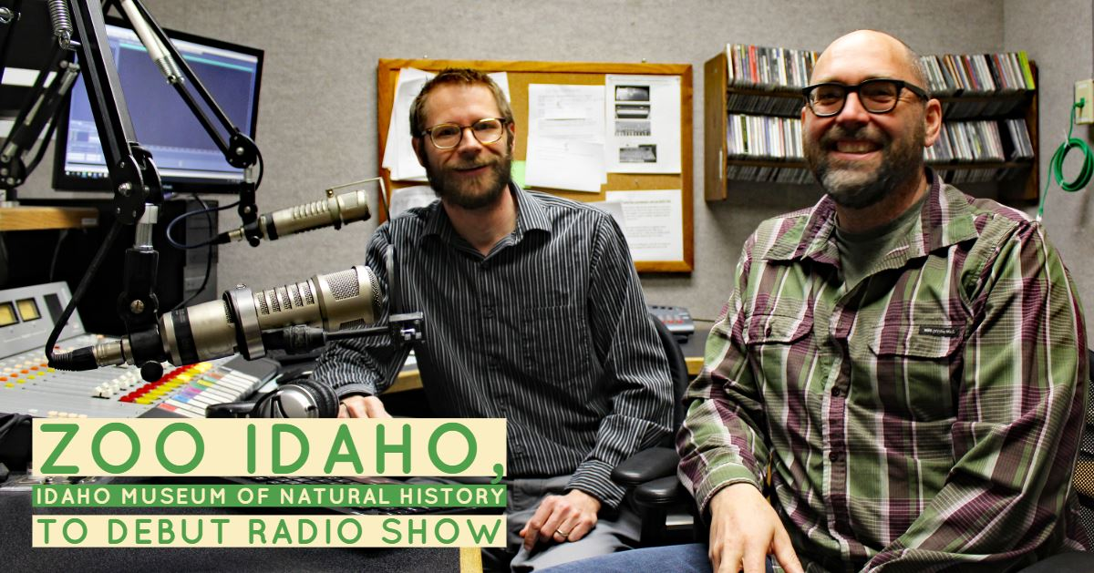 From left, Dr. Leif Tapanila, Director of the Idaho Museum of Natural History, and Peter Pruett, Zoo