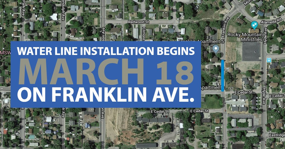 A map of the Franklin Avenue water project.