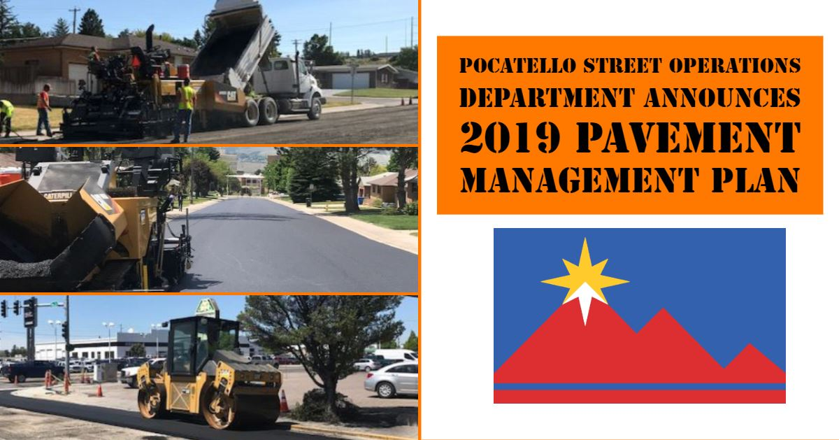 Street Operations Department crews working on various projects in Pocatello.