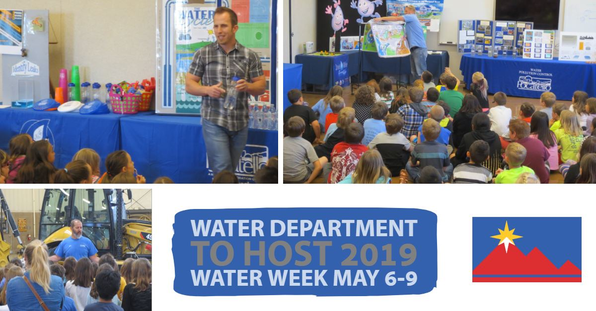 Attendees at the City of Pocatello Water Department&#39s Water Week open house.