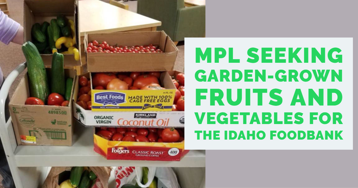Fresh fruits and vegetables donated at the Marshall Public Library for The Idaho Foodbank