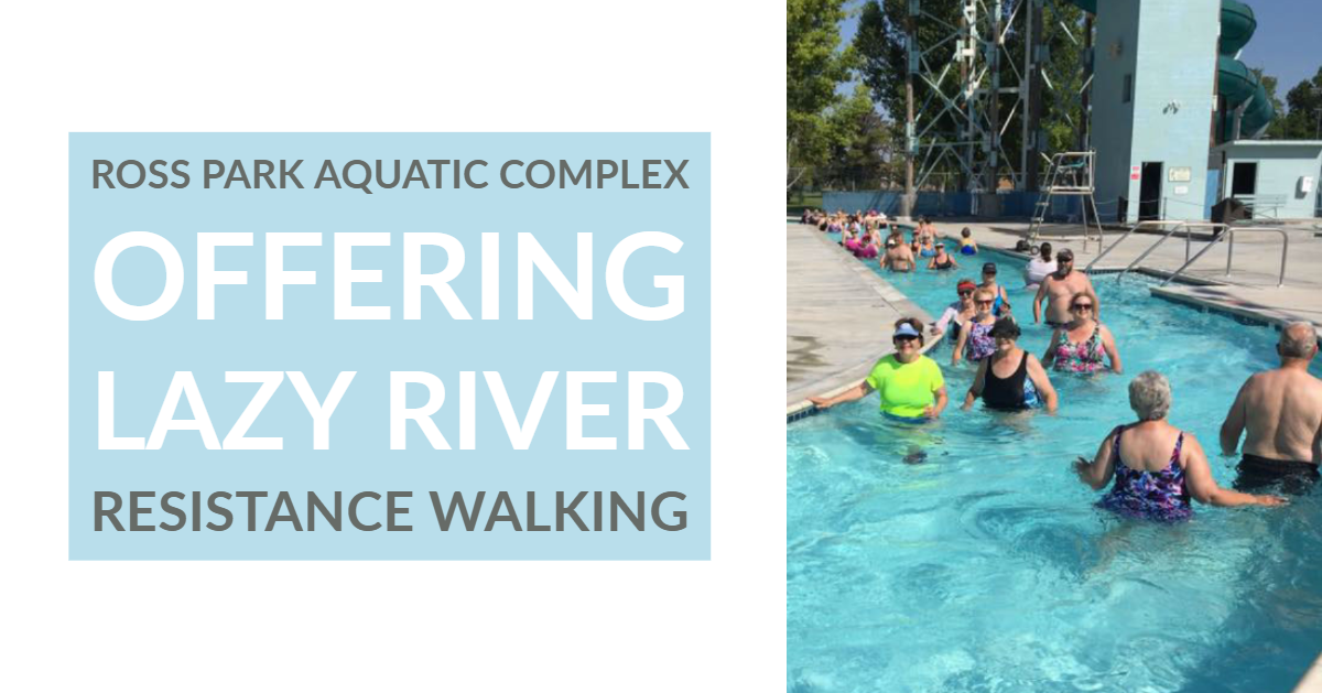 Participants at a Lazy River Walking session at the Ross Park Aquatic Complex.