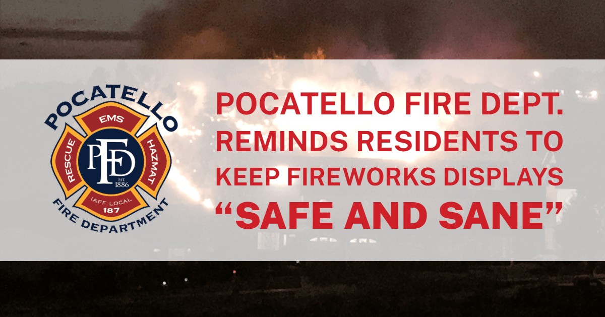 A fire in Pocatello.