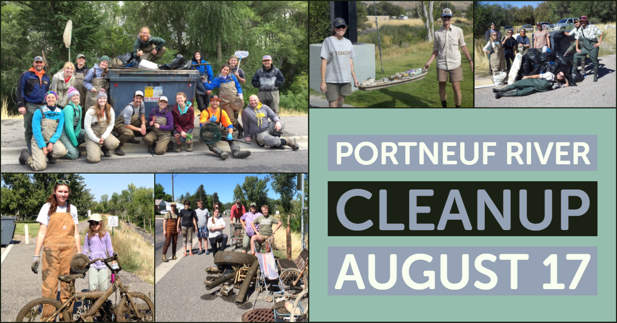 Volunteers take part in the Portneuf River Cleanup
