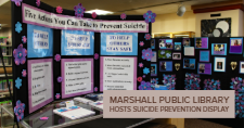 The Suicide Prevention Month Display at the Marshall Public Library.
