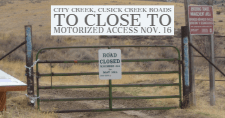 Cusick Creek Road gate
