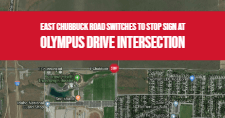 Map of East Chubbuck Road and Olympus Drive
