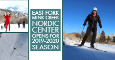 Skiers at the East Fork Mink Creek Nordic Center