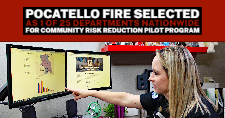 Kim Stouse, Pocatello Fire Department Community Relations/Education Specialist, explains some of the