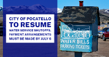 City of Pocatello Utility Bill payment dropbox