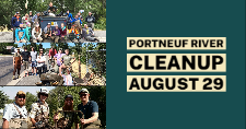 Participants at previous Portneuf River Cleanups.