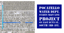 Project map for the Water Dept.'s Dunn and 3rd project