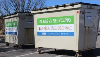 City of Pocatello Sanitation Department Glass Recycling bins