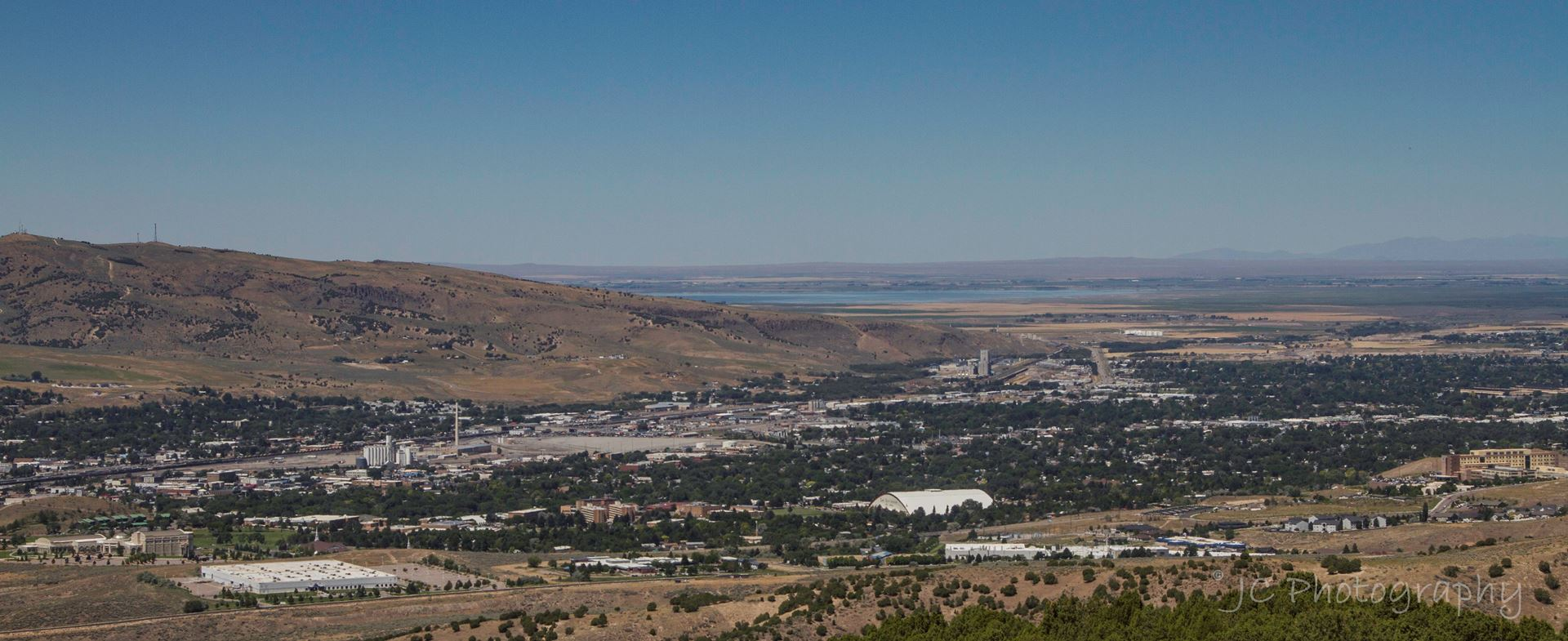 View of Pocatello from Chinese Peak